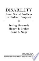 Disability, from Social Problem to Federal Program
