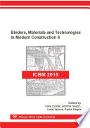 Binders  Materials and Technologies in Modern Construction II