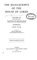 The Manuscripts of the House of Lords