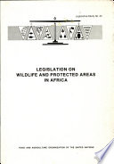 Legislation on Wildlife and Protected Areas in Africa