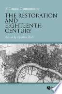 A Concise Companion to the Restoration and Eighteenth Century