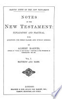 Notes on the New Testament  Explanatory and Practical