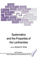 Systematics and the Properties of the Lanthanides Book