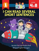 I Can Read Several Short Sentences  My Kids First Level Readers Book Bilingual English Norwegian