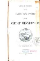 Annual Report of the Various City Officers