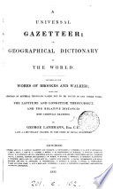 A universal gazetteer  or  Geographical dictionary of the world Book PDF