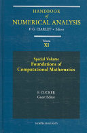 Special Volume  Foundations of Computational Mathematics