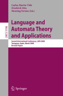 Pdf Language and Automata Theory and Applications Telecharger