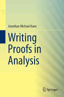 Writing Proofs in Analysis Book