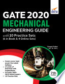 GATE 2020 Mechanical Engineering Guide with 10 Practice Sets  6 in Book   4 Online  7th edition Book