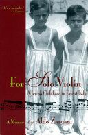 For Solo Violin