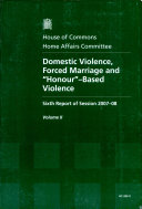 Domestic Violence, Forced Marriage and 'honour'-Based Violence ebook