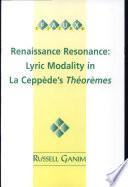 Renaissance Resonance  Book
