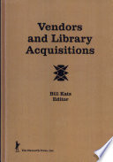 Vendors and Library Acquisitions Book
