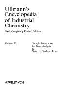 Ullmann S Encyclopedia Of Industrial Chemistry Book PDF