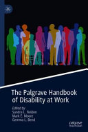 The Palgrave Handbook of Disability at Work
