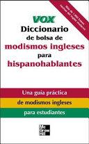 Vox Diccionario de bolsa de modismos ingleses para hispanohablantes Book