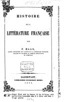 Histoire de la Litterature Française