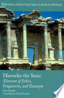 Hierocles The Stoic Book
