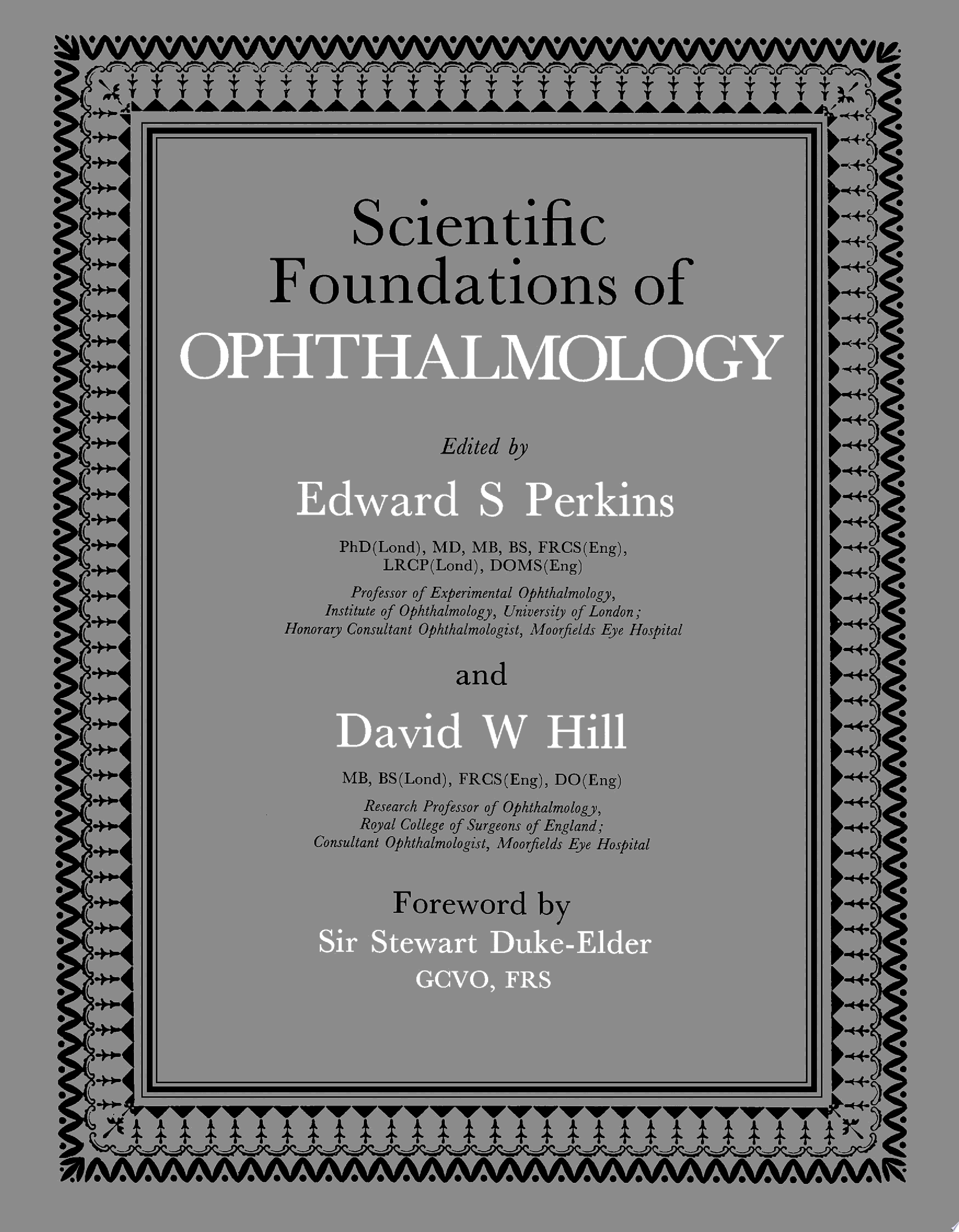 Scientific Foundations of Ophthalmology