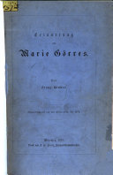 Erinnerung an Marie Görres: Von Franz Binder. ...