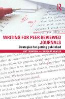 Writing for Peer Reviewed Journals Pdf/ePub eBook