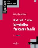 Pdf Droit civil 1re année. Introduction Personnes Famille - 10e éd. Telecharger