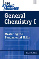 Cover of General Chemistry I as a Second Language
