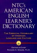NTC s American English Learner s Dictionary