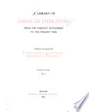 A Library Of American Literature Early Colonial Literature 1607 1675