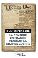 Pdf La Censure en France pendant la Grande Guerre Telecharger