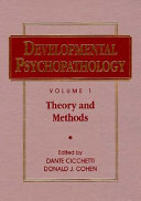 Developmental Psychopathology  Theory and Methods Book