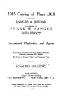 Catalogue of Plays, 1916