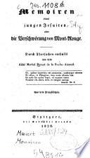 Memoiren eines jungen Jesuiten oder die Verschwörung von Mont-Rouge