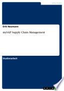 mySAP Supply Chain Management