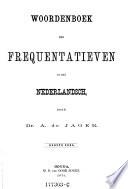 Woordenboek Der Frequentatieven In Het Nederlandsch