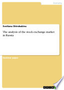 The analysis of the stock exchange market in Russia