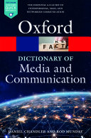 A Dictionary of Media and Communication Pdf
