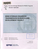 Wind Storage Enhanced Transmission Research And Development Project Book PDF