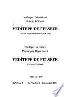 Yeditepe'de felsefe : yılda bir yayınlanan hakemli ortak kitap