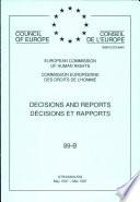 D  cisions et rapports 89 B Commission europ  enne des Droits de l Homme