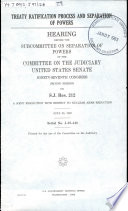 Treaty Ratification Process and Separation of Powers Book