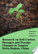 Research on Soil Carbon Storages and Storage Changes in Yangtze Delta Region  China Book