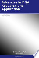 Advances in DNA Research and Application  2012 Edition Book