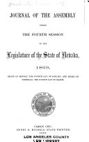 The Journal of the Assembly of the ... Session of the Legislature of the State of Nevada