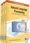 Natural Language Processing Concepts Methodologies Tools And Applications