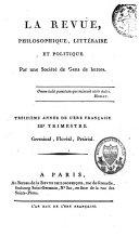 La Revue Philosophique, Littéraire et Politique