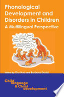 Phonological Development and Disorders in Children Book PDF