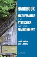Handbook of Mathematics and Statistics for the Environment Pdf/ePub eBook