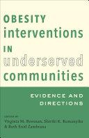 Obesity Interventions in Underserved Communities Pdf/ePub eBook